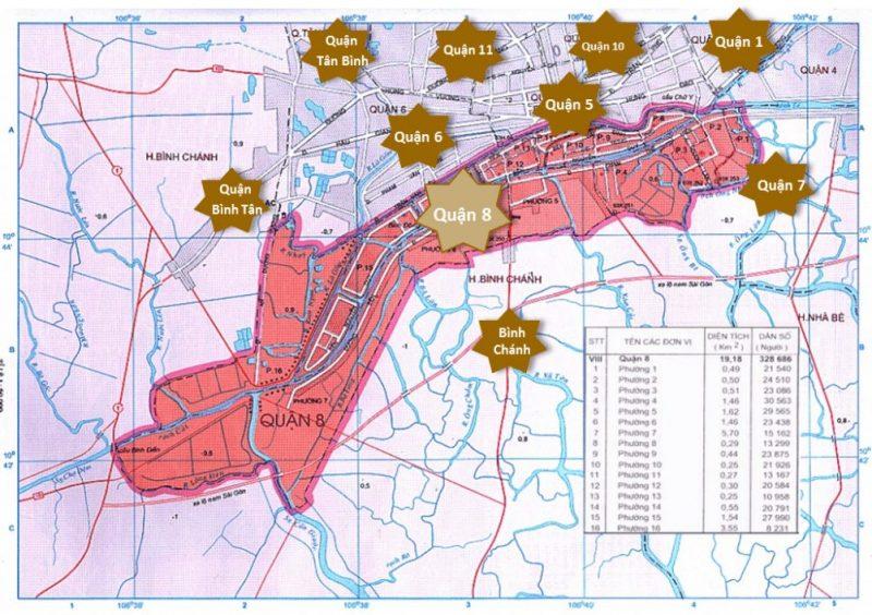 bản đồ quận 8 tphcm (thành phố hồ chí minh)