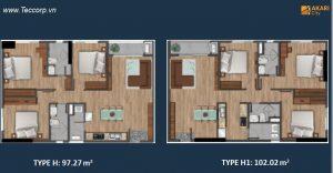 can ho akari city 97 - 102 m2