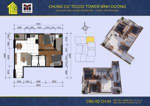 mat bang can ho CH04 Tecco Tower Binh Duong