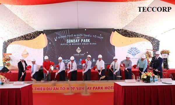 Tập đoàn Crystal bay cùng Tổng thầu DELTA-V thực hiện lễ động thổ SUNBAY PARK NINH THUẬN